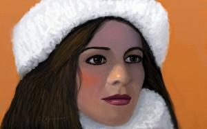 Aynur Isiktas Portrait, Artist Ioannis Chrysochos