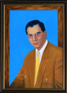 Portrait of Mr Nicos Timotheou, Acrylics and Oils painting on canvas, Ioannis Chrysochos