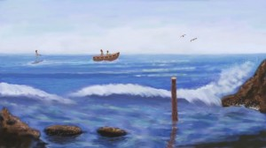 Sea Boat to Ski Digital Painting Painted by Ioannis Chrysochos